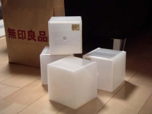 硬質パルプボックスを使ったCD収納